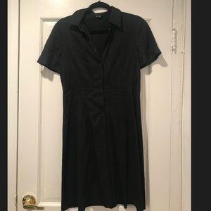 Theory black button down dress L
